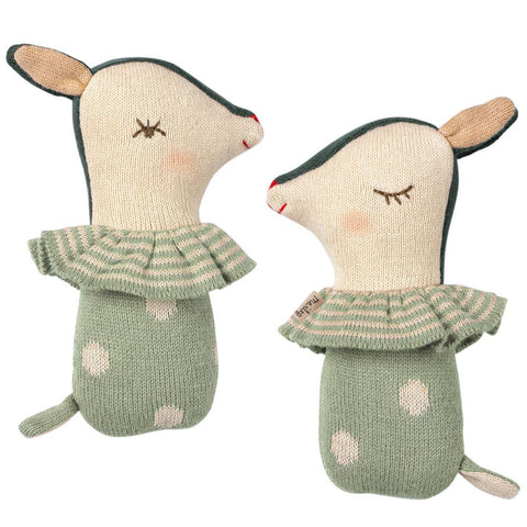 Maileg Bambi Rattle, Mint
