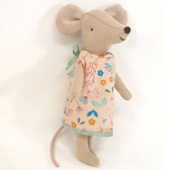 Maileg Big Sister Mouse in a Box, Flower Dress