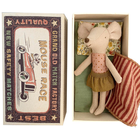 Maileg Big Sister Mouse in a Box, Gold Skirt