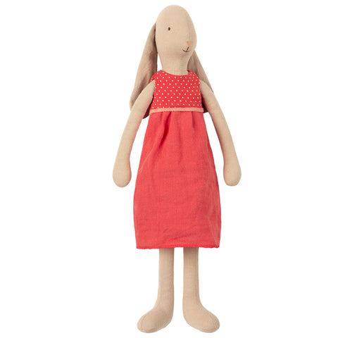 Maileg Red Dress Bunny, Size 3,  16 inches