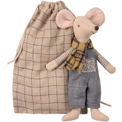 Maileg Father Mouse in Bag