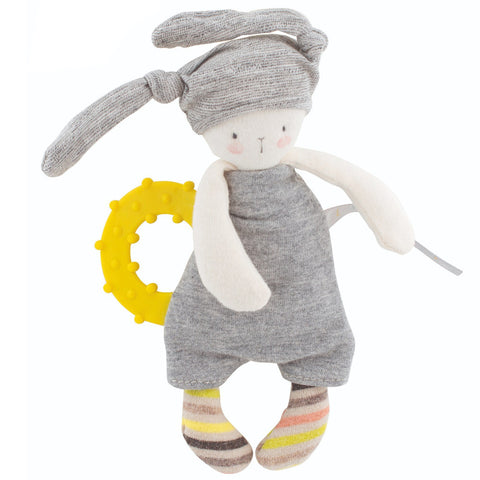 Moulin Roty Les Petits Dodos Rabbit Doll with Teething Ring