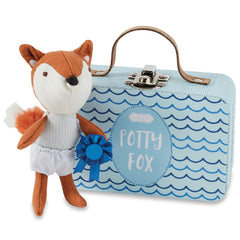 Potty Fox in a Suitcase, Blue