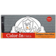 Firefighter, Police Officer Color-In Hats