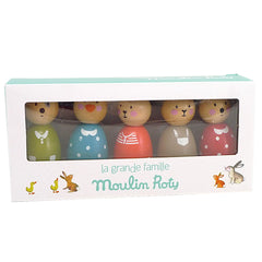 Moulin Roty La Grande Famille 5pcs Wooden Doll Set