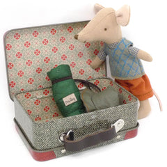 Maileg Big Brother Hiking Mouse in Suitcase