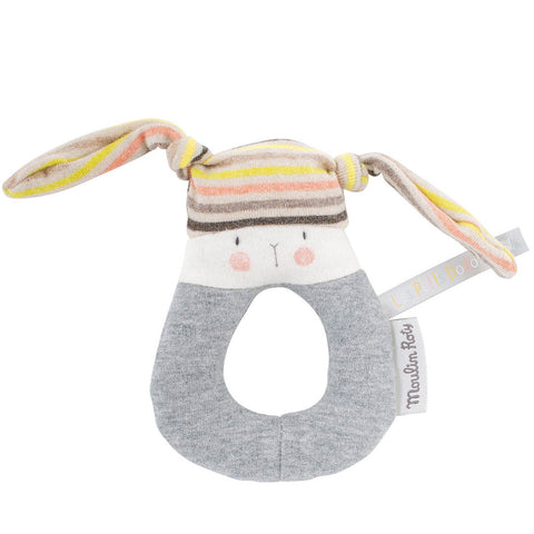 Moulin Roty Les Petits Dodos Rabbit Ring Rattle
