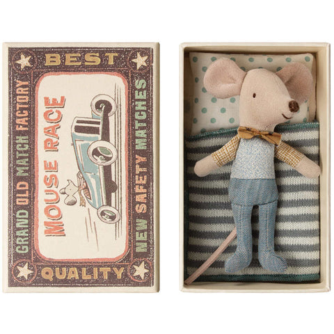 Maileg Little Brother Mouse in a Box, Box Tie