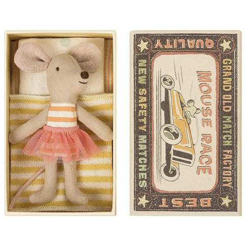 Maileg Little Sister Mouse in a Box, Stripe