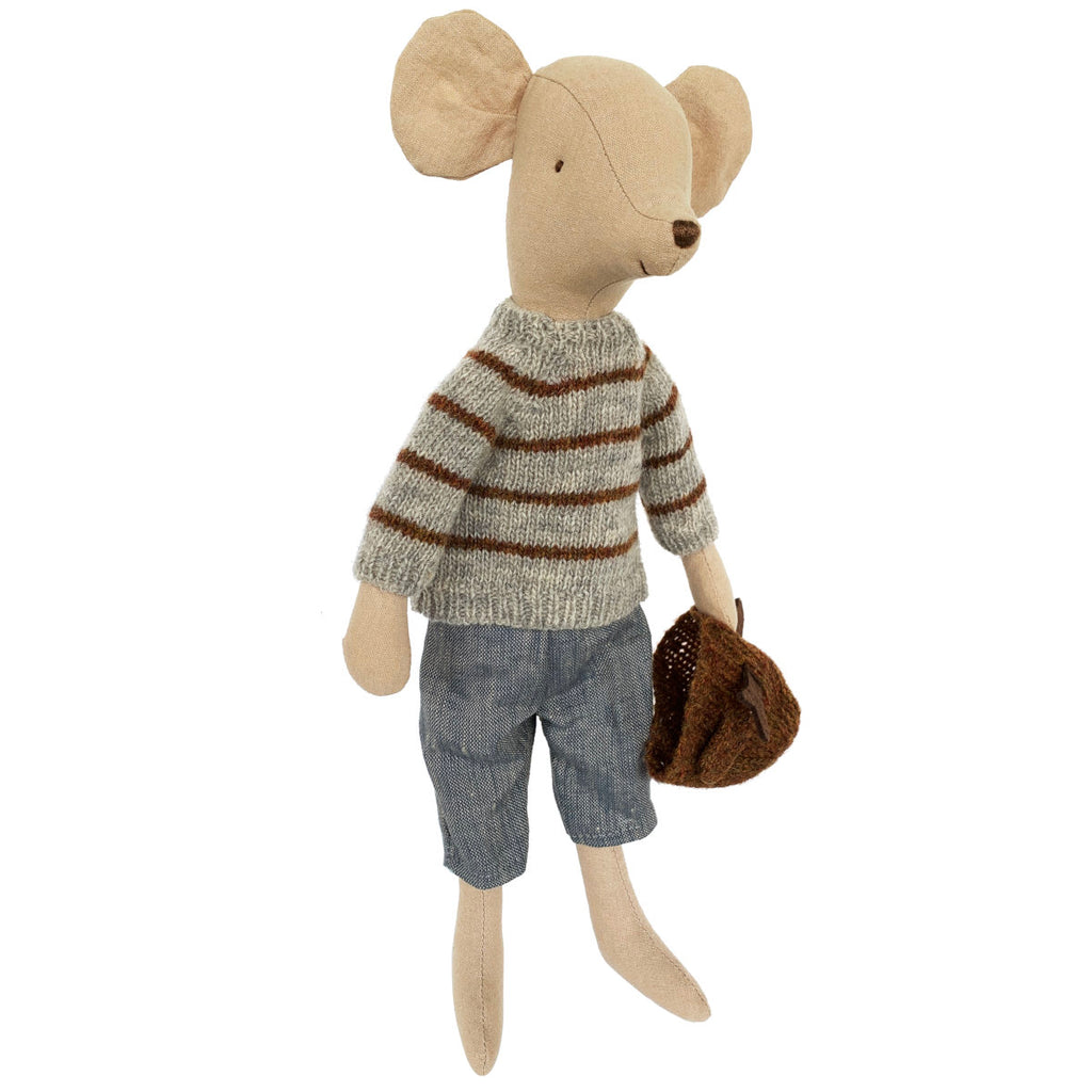 Maileg Medium Winter Mouse, Boy
