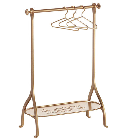 Maileg Metal Clothes Rack, Gold