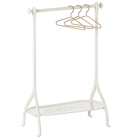 Maileg Metal Clothes Rack, White
