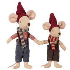 Maileg Christmas Brother Mice in Book