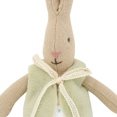 Maileg Micro Rabbit with Green Vest, 6 inches