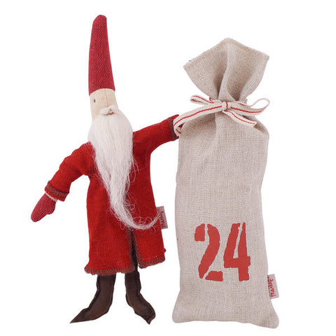 Maileg Micro Santa Pixy with Sack, 8 inches