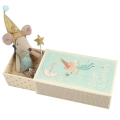 Maileg Tooth Fairy Mouse in Box, Boy with a Sack