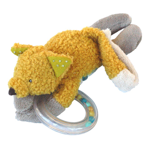 Moulin Roty Le Voyage d'Olga Chaussette the Fox Bead Rattle