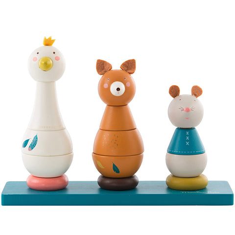 Moulin Roty Le Voyage d'Olga Wooden Stacking Toy