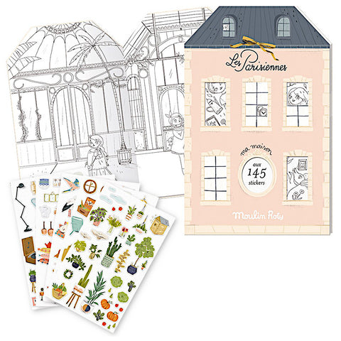 Moulin Roty Les Parisienne Coloring Sticker Book
