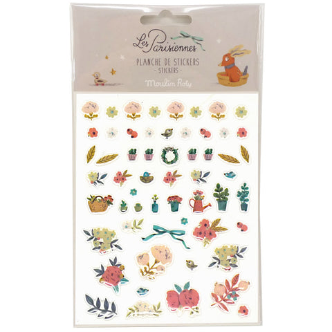 Moulin Roty Les Parisiennes Stickers, Flower