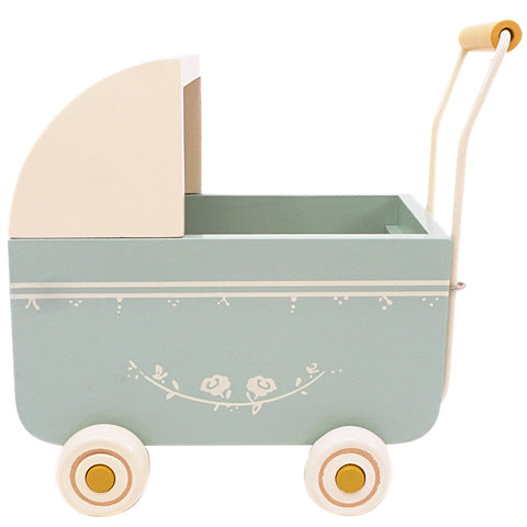 Maileg Mini Doll Pram, Blue