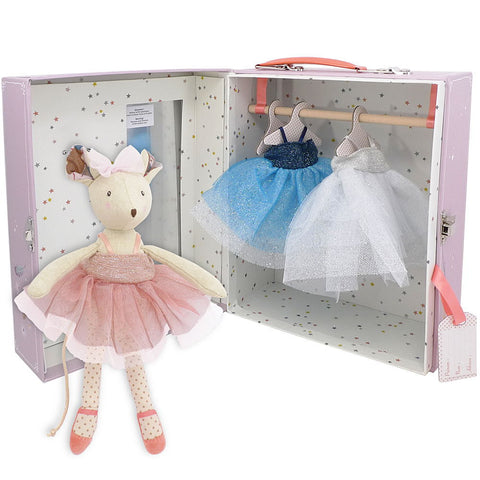 Moulin Roty Il Etait Une Fois Ballerina Mouse in Suitcase