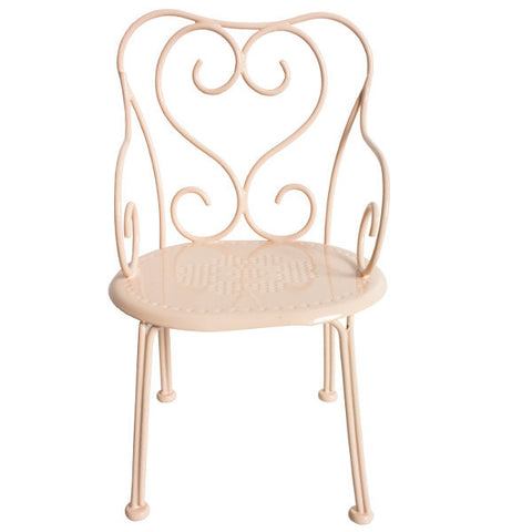 Maileg Romantic Metal Chair, Pink