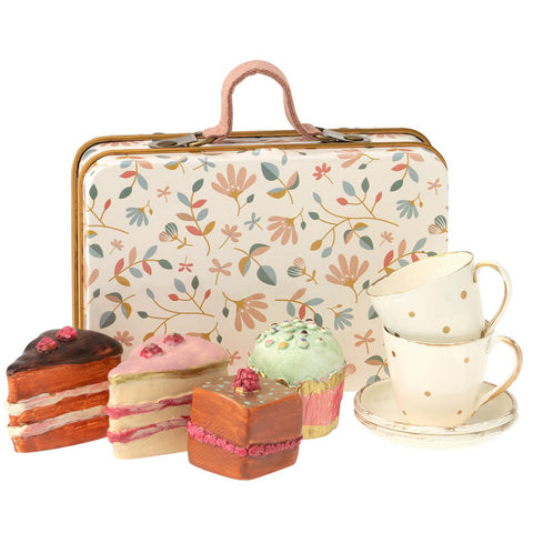 Maileg Suitcase with Tea Sets and Cakes