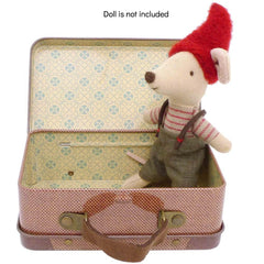 Maileg Metal Travel Suitcase for Dolls, Brown