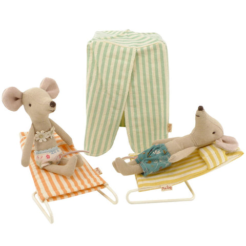 Maileg Two Mice on Vacation