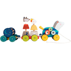 Moulin Roty Les Zig et Zag Pull Along Activity Horse