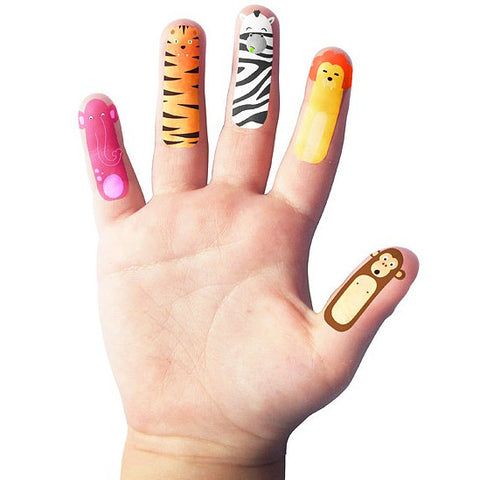 Finger Safari Temporary Tattoos