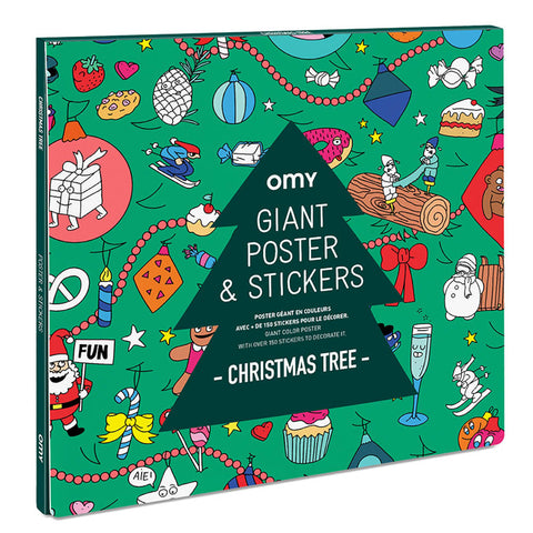 OMY Giant Poster with Stickers, Christmas Tree