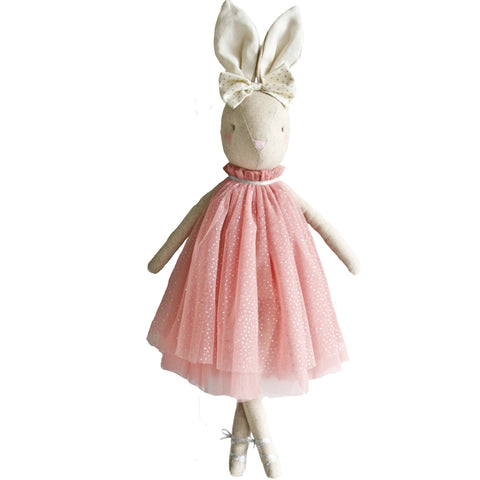 Alimrose Daisy Bunny Blush Sparkle, 18 inches