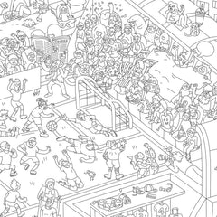 OMY Giant Coloring Poster, Soccer