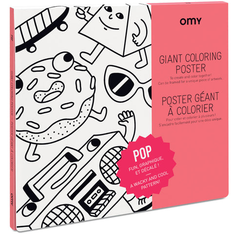 OMY Giant Coloring Poster, POP