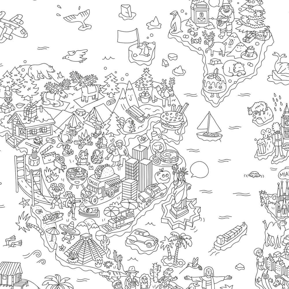 - OMY Giant Coloring Poster, Atlas – My Sweet Muffin