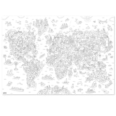 OMY Giant Coloring Poster, Atlas