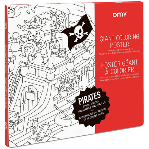 OMY Giant Coloring Poster, Pirates