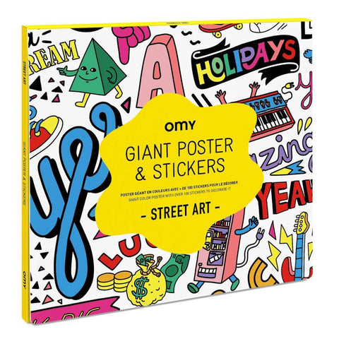 OMY Street Art Poster and Sticker