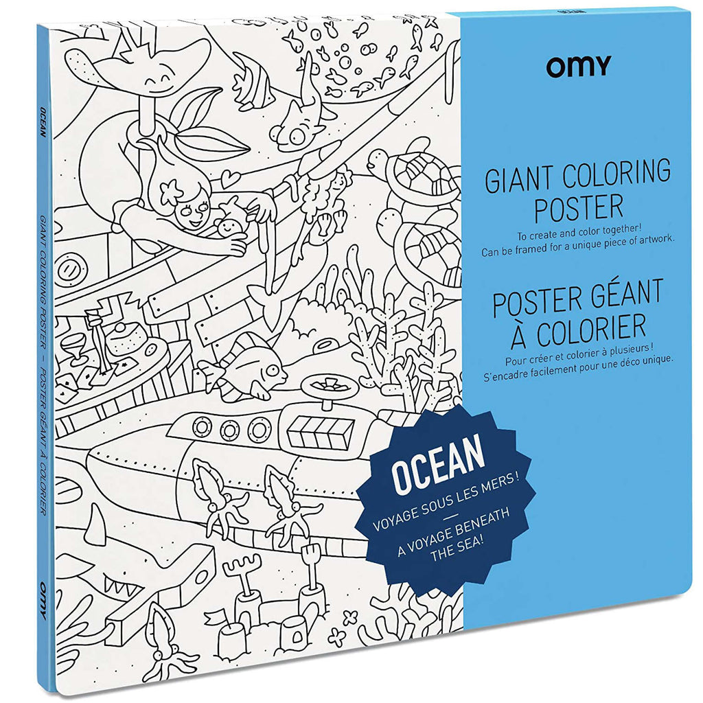 OMY Giant Coloring Poster, Ocean