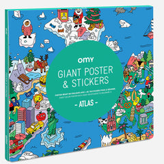 OMY Giant Poster with Stickers, Atlas