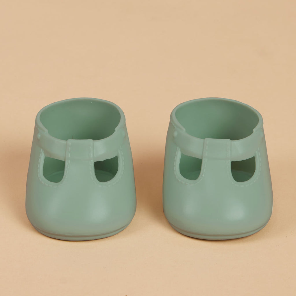 Olli Ella Dinkum Doll Shoes, Basil Green