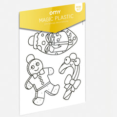 OMY Shrinking Plastic Magic Christmas Ornaments