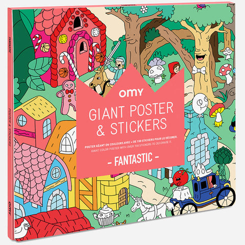 OMY Giant Poster with Stickers, Fantastic