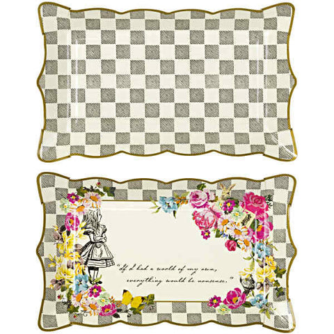 Alice Tea Party Platter, 4 pack