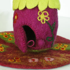 Wool Felt Purple Fairy House