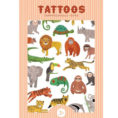 Petit Monkey Jungle Animals Tattoos