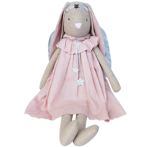 Alimrose Celeste Angel Bunny, Pink, 27 inches