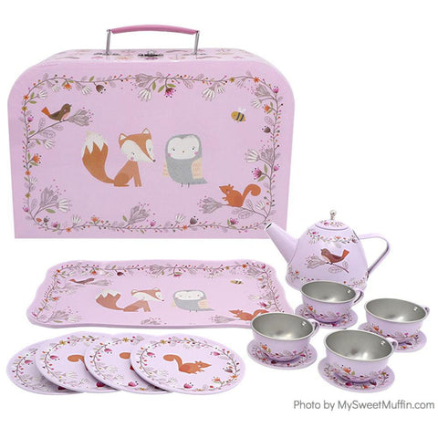 Woodland Friends Tea Set in a Suitcase